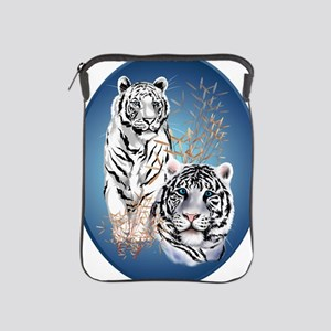 Two White Tigers Oval Trans iPad Sleeve