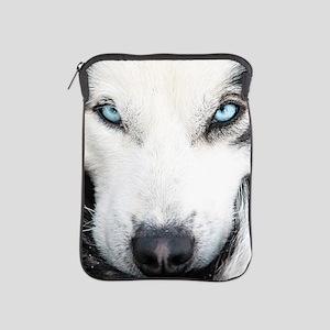 Blue Eyed Husky iPad Sleeve