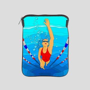 Woman swimming iPad Sleeve