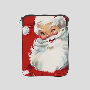 Vintage Christmas Jolly Santa Claus iPad Sleeve
