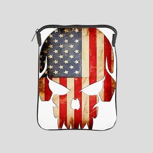 American Flag Skull iPad Sleeve