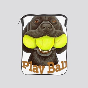 Play Ball, Labrador with Tennis Balls iPad Sleeve