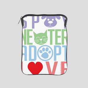 Spay-Neuter-Adopt-Love-2010 iPad Sleeve