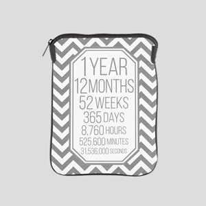 1 Year (Gray Chevron) iPad Sleeve