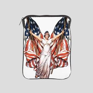 Vintage American Flag Art iPad Sleeve