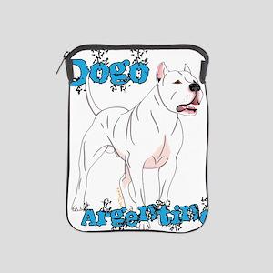 Dogo Argentino Blue Letters iPad Sleeve