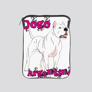 Dogo Argentino Pink Letters iPad Sleeve