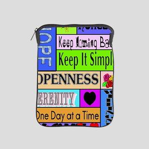 12 step sayings iPad Sleeve