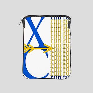 XC Run Blue Gold iPad Sleeve