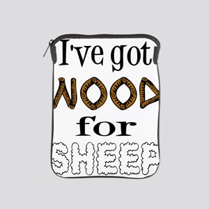 Wood for Sheep (text) iPad Sleeve