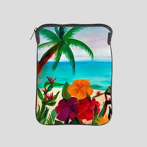Tropical Floral Beach iPad Sleeve
