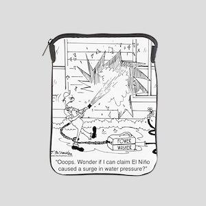 6414_power_washer_cartoon iPad Sleeve