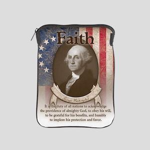 George Washington - Faith iPad Sleeve