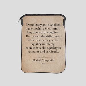 Alexis de Tocqueville Quote iPad Sleeve