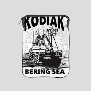 kodiak_bering_bw iPad Sleeve