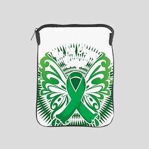 Organ-Donor-Butterfly-3-blk iPad Sleeve
