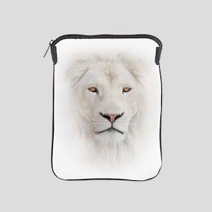 White Lion Head iPad Sleeve