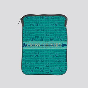 Cross Country Running Collage Blue iPad Sleeve