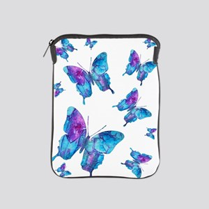 Electric Blue Butterfly Flurry iPad Sleeve