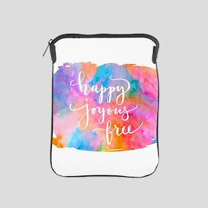 Happy Joyous Free iPad Sleeve