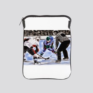 Hocky Players and Referee at Center Ic iPad Sleeve