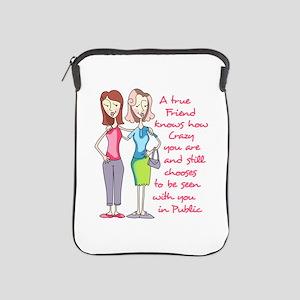 A TRUE FRIEND iPad Sleeve