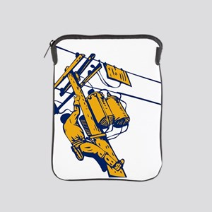 power lineman repairman iPad Sleeve