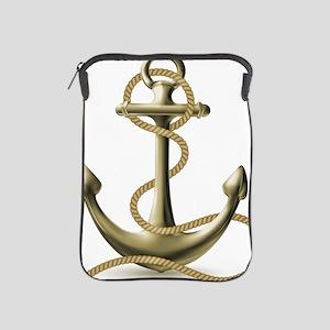 Gold Anchor iPad Sleeve