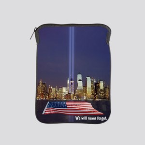 9/11 Tribute - Never Forget iPad Sleeve