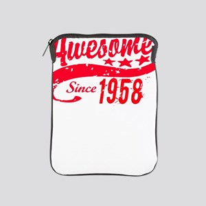 Awesome Since 1958 60 Years Old Birthd iPad Sleeve