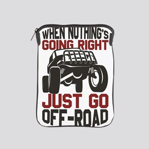 4 Wheel When Nothing is Going Right Ju iPad Sleeve