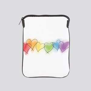 Rainbow Hearts iPad Sleeve