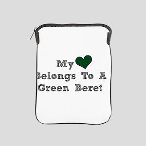 My Heart Belongs To A Green Beret iPad Sleeve