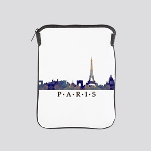 Mosaic Skyline of Paris France iPad Sleeve