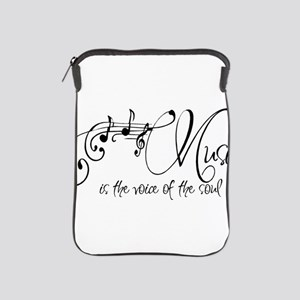 Music is the voice of the soul iPad Sleeve