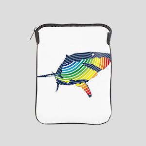 great white rainbow shark iPad Sleeve