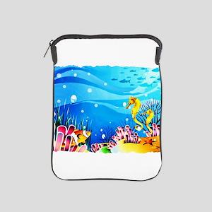 Undersea Coral, Fish Seahorses iPad Sleeve