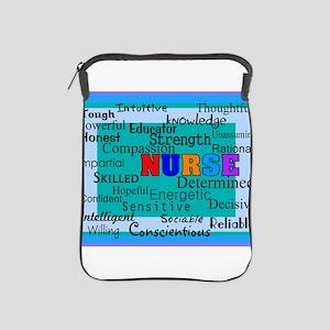 Nurse Blanket blue iPad Sleeve