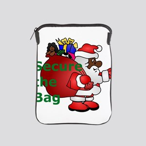 secure the bag santa iPad Sleeve