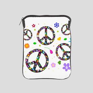 Peace symbols and flowers pat iPad Sleeve