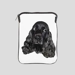 Cute Black Cocker Spaniel Portrait Print iPad Slee