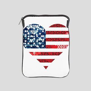 usa flag heart iPad Sleeve