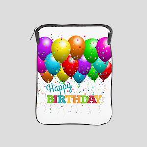Trendy Happy Birthday Balloons iPad Sleeve
