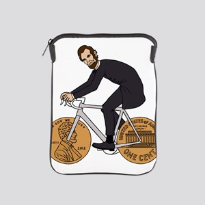 Abraham Lincoln On A Bike With Penny W iPad Sleeve