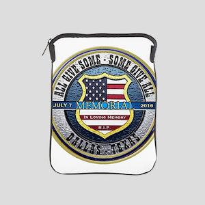 Memorial Dallas Police Thin Blue Line iPad Sleeve