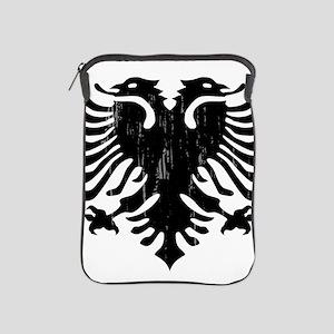 albania_eagle_distressed iPad Sleeve