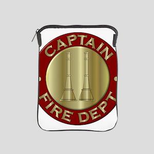 Fire captain emblem bugles iPad Sleeve