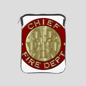 Fire chief brass sybol iPad Sleeve