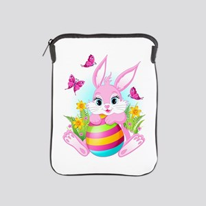 Pink Easter Bunny iPad Sleeve