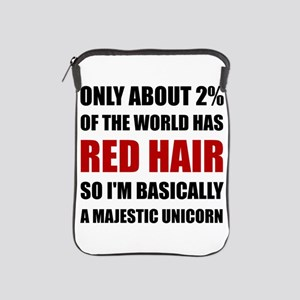 Red Hair Majestic Unicorn iPad Sleeve